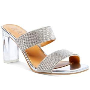Wild Pair Zandria Two-Piece Mules Dress Sandals